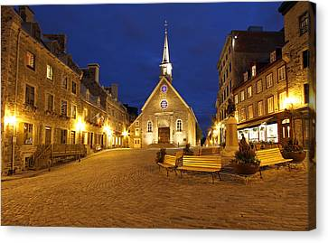 Notre Dame Des Victories And Place Royale Canvas Print by Juergen Roth