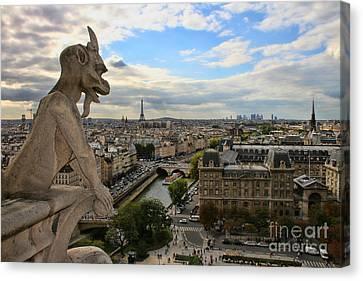 Notre Dame Gargoyle Canvas Print by Crystal Nederman