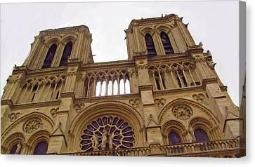 Notre Dame Canvas Print by Jenny Armitage