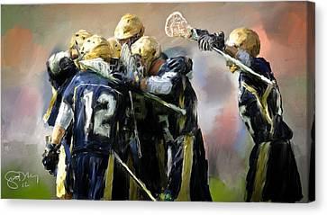 College Lacrosse Celebration  Canvas Print by Scott Melby