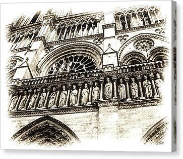 Notre Dame Pencil Canvas Print