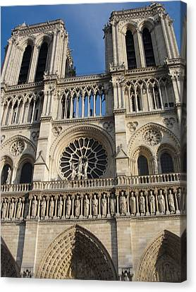 Canvas Print featuring the photograph Notre Dame by Tiffany Erdman