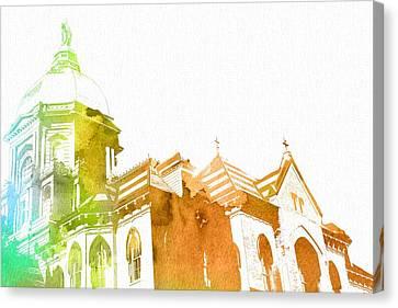 Notre Dame Watercolor Canvas Print