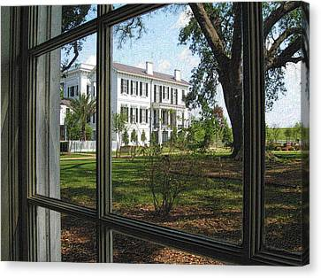 Nottoway Through The Window Canvas Print by Nadalyn Larsen