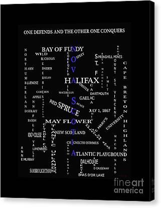 Nova Scotia Canada Crosswords Canvas Print by Barbara Griffin