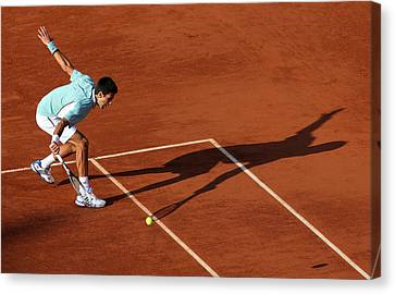 Novak Djokovic Canvas Print by Srdjan Petrovic