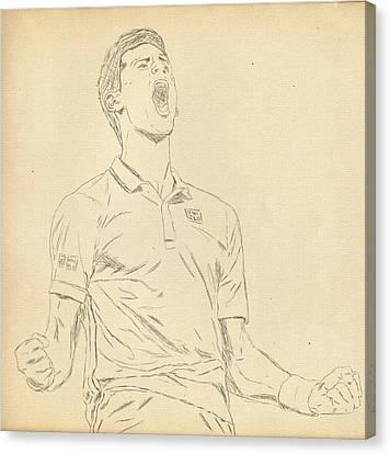Novak Canvas Print by Scott  Colson