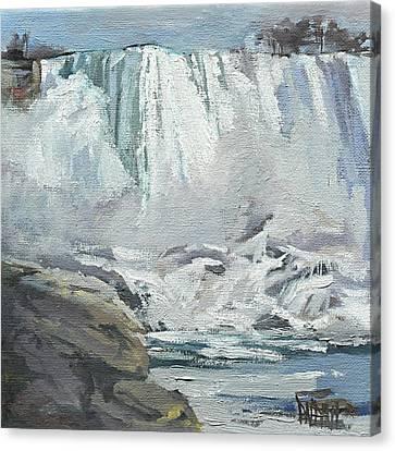 November Falls At Niagara Canvas Print