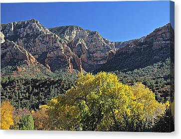 Canvas Print featuring the photograph November In Sedona by Penny Meyers