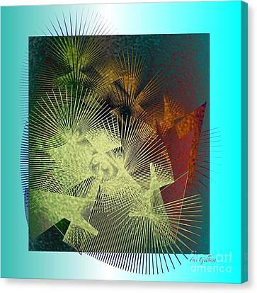 Canvas Print featuring the digital art November by Iris Gelbart