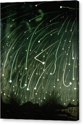 November Meteors Canvas Print by Miriam And Ira D. Wallach Division Of Art, Prints And Photographs/new York Public Library