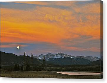 November Moonrise Canvas Print by Bob Berwyn