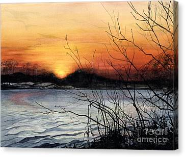 November Sunset Canvas Print by Barbara Jewell