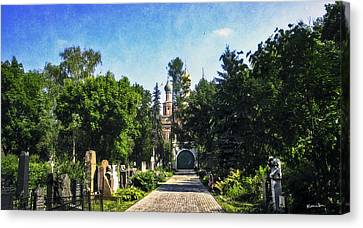 Novodevichy Cemetery 2 - Moscow - Russia Canvas Print by Madeline Ellis