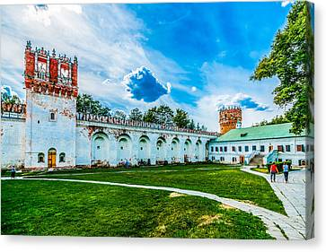 Novodevichy Convent Walls And Towers Canvas Print by Alexander Senin