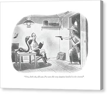 Now, Don't Stir, Old Man. I've Seen This Canvas Print by Richard Taylor