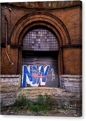 Now Graffiti Canvas Print by Amy Cicconi
