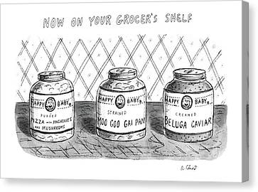 Now On Your Grocer's Shelf Canvas Print by Roz Chast