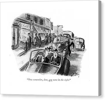 Now Remember Canvas Print by William Steig