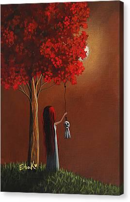 Now She Won't Be Alone 3 Original Artwork Canvas Print by Shawna Erback