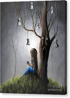 Creepy Canvas Print - Now She Won't Be Alone II By Shawna Erback by Shawna Erback