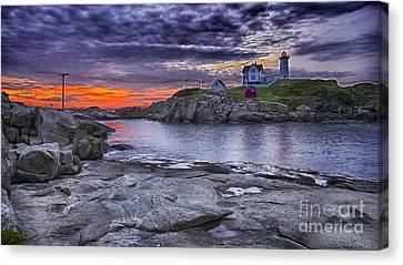 Nubble Lighthouse Maine Canvas Print by Steven Ralser