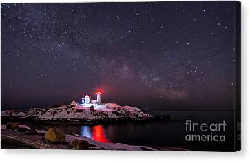 Nubble And The Milkyway Canvas Print by Scott Thorp