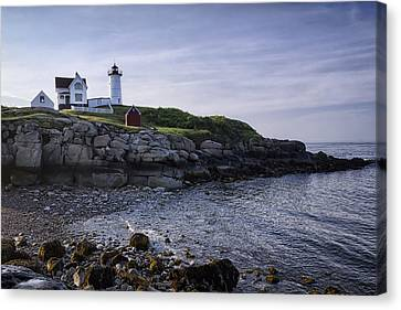 Nubble Dawn Canvas Print by Joan Carroll