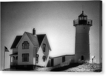 Nubble Lighthouse Canvas Print - Nubble In Maine by Skip Willits