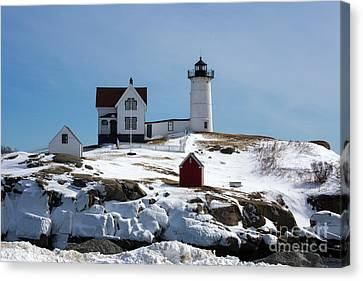 Nubble Light 2 Canvas Print by Kevin Fortier