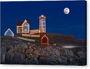 Nubble Light Cape Neddick Lighthouse Canvas Print