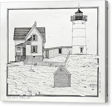Cape Neddick Canvas Print - Nubble Light by Ira Shander