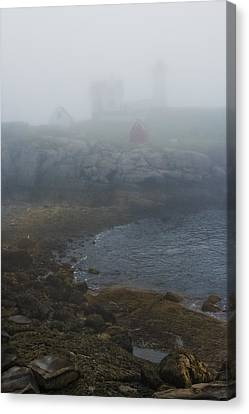 Nubble Light Canvas Print by Joseph Smith