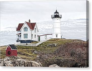 Canvas Print featuring the photograph Nubble Light by Richard Bean