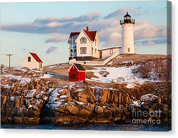 Nubble Light York Maine Canvas Print by Dawna  Moore Photography