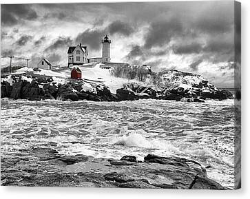 Nubble Lighthouse After The Storm Canvas Print