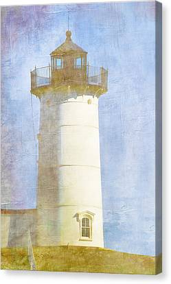 Nubble Lighthouse Canvas Print by Carol Leigh