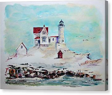 Nubble Lighthouse Canvas Print