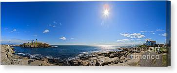Nubble Lighthouse Canvas Print by Henk Meijer Photography