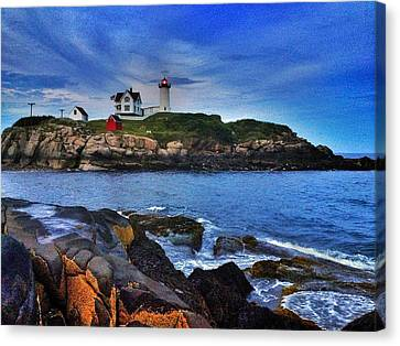 Nubble Lighthouse Canvas Print - Nubble Lighthouse by Mark Murphy