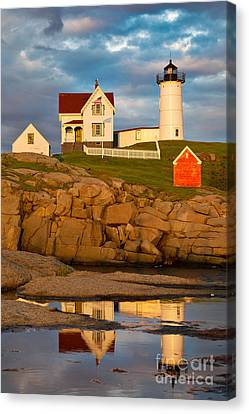 Canvas Print featuring the photograph Nubble Lighthouse No 1 by Jerry Fornarotto