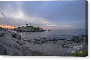 Nubble Lighthouse Canvas Print by Steven Ralser