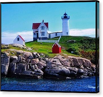 Gifts For Men Canvas Print - The Nubble Light by Thom Zehrfeld