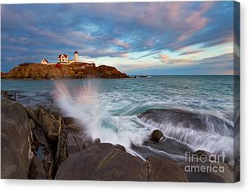Nubble Splash Canvas Print by Katherine Gendreau
