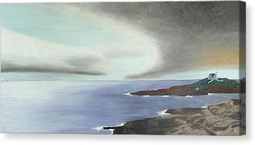 Nubble Storm Canvas Print by Dillard Adams