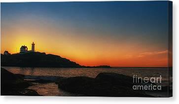 Nubble Sunrise Canvas Print by Scott Thorp