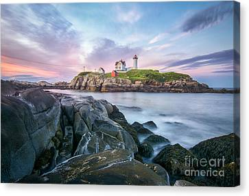 Nubble Sunset Canvas Print by Scott Thorp