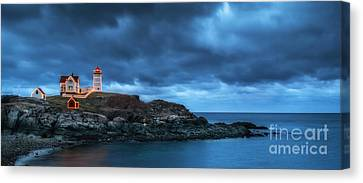 Nubble Lighthouse Before The Storm Canvas Print