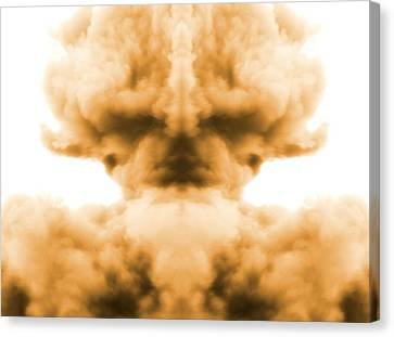 Nuclear Explosion Canvas Print by Dan Sproul