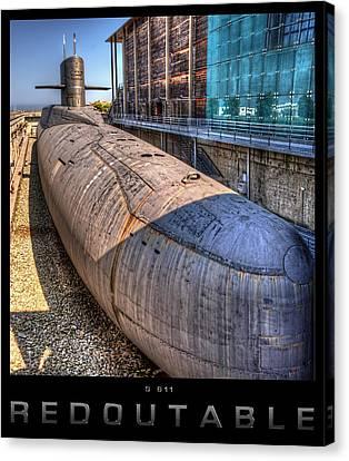 Nuclear Submarine Framed Canvas Print by Weston Westmoreland